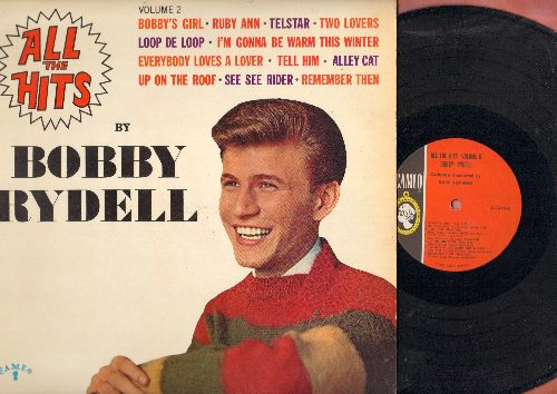 Rydell, Bobby - All The Hits Volume 2: Bobby's Girl, Telstar, Up On The Roof, Tell Him, Alley Cat, I'm Gonna Be Warm This Winter (Vinyl MONO LP record, NICE condition!) - NM9/NM9 - LP Records