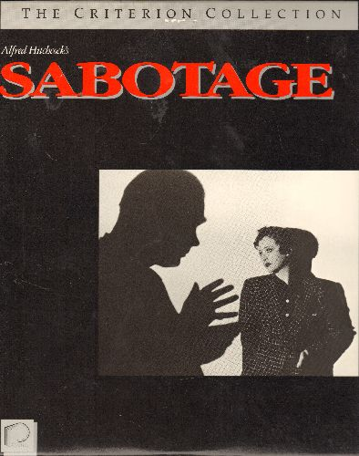 Sabotage - Sabotage - LASERDISC version of the Hitchcock Classic -RARE Criterion Collection Issue! - NM9/NM9 - LaserDiscs