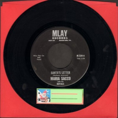 Sacco, Maria - Santa's Letter/Santa's On His Way (by Tommy Mossburg with the Electro-Tones) - EX8/ - 45 rpm Records