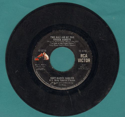 Sadler, Ssgt Barry - The Ballad Of The Green Berets/Letter From Vietnam (with RCA company sleeve) - VG7/ - 45 rpm Records