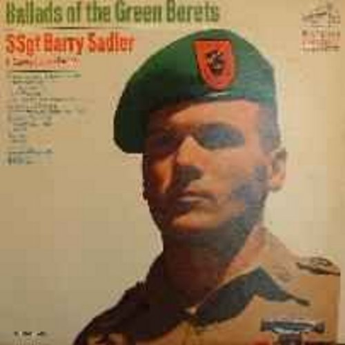 Sadler, SSgt Barry - Ballads of the Green Berets: Letter From Vietnam, The A Team, Badge of Courage (stereo) - VG7/EX8 - LP Records