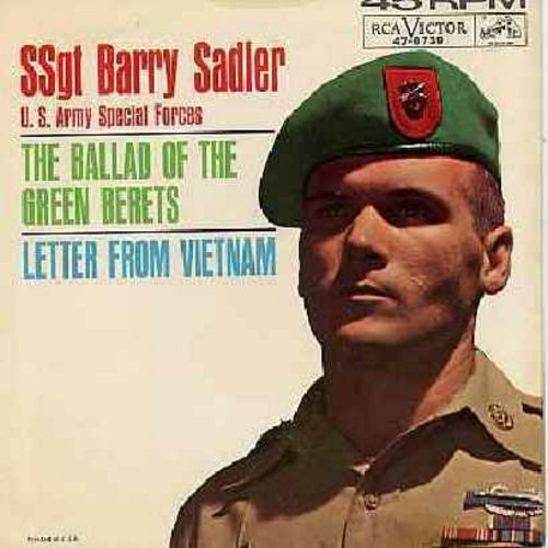 Sadler, Ssgt Barry - The Ballad Of The Green Berets/Letter From Vietnam (with picture sleeve) - VG7/VG6 - 45 rpm Records