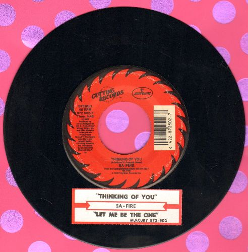 Sa-Fire - Thinking Of You/Let Me be the One (with juke box label) - NM9/ - 45 rpm Records