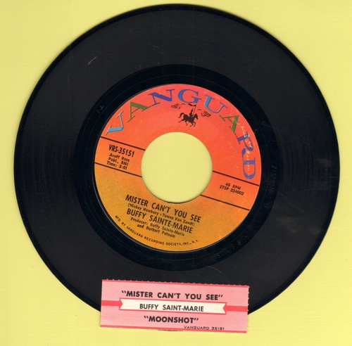 Sainte-Marie, Buffy - Mister Can't You See/Moonshot (with juke box label) - NM9/ - 45 rpm Records