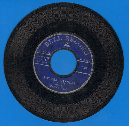 Saleo, Barbara - Sixteen Reasons (Why I Love You)/I Love The Way You Love (by Art Mindo on flip-side) (early cover versions of hits) - VG7/ - 45 rpm Records