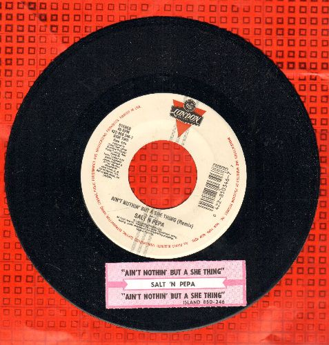 Salt-N-Pepa - Ain't Nothin' But A She Thing Album Version and Remix, with juke box label) - NM9/ - 45 rpm Records