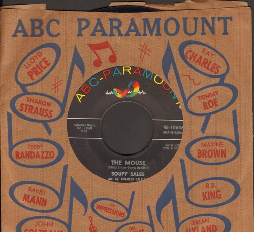 Sales, Soupy - The Mouse/Pechalafaka (with vintage ABC-Paramount company sleeve) - NM9/ - 45 rpm Records