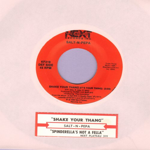 Salt-N-Pepa - Shake Your Thang/Spinderella's Not A Fella (But A Girl DJ) (with juke box label) - NM9/ - 45 rpm Records