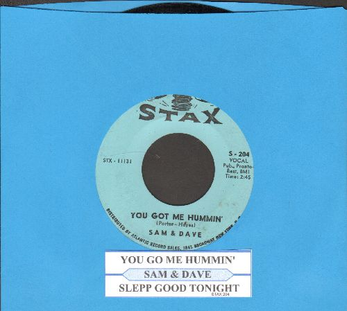 Sam & Dave - You Got Me Hummin'/Sleep Good Night (with juke box label) - EX8/ - 45 rpm Records