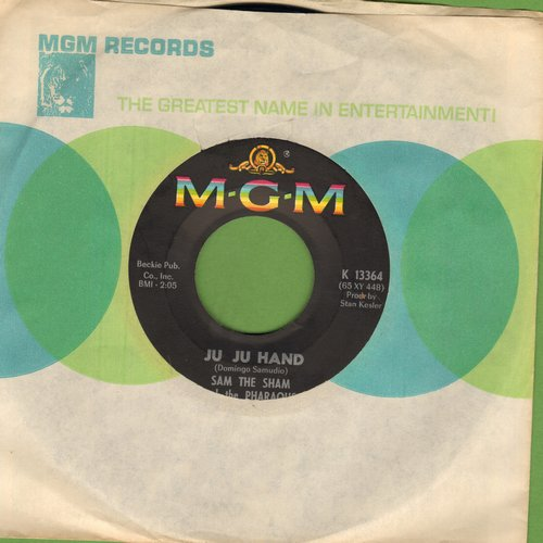 Sam The Sham & The Pharohs - Ju Ju Hand/Big City Lights (with MGM company sleeve) - EX8/ - 45 rpm Records