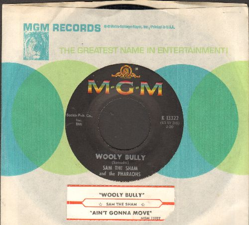 Sam The Sham & The Pharaohs - Wooly Bully/Ain't Gonna Move (with juke box label and MGM company sleeve) - NM9/ - 45 rpm Records
