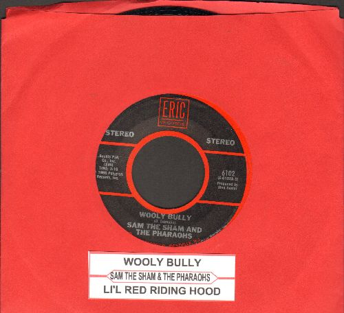 Sam The Sham & The Pharaohs - Wooly Bully/Li'l Red Riding Hood (early double-hit re-issue with juke box label) - VG7/ - 45 rpm Records