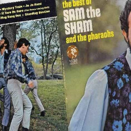 Sam The Sham & The Pharaohs - The Best Of: Wooly Bully, Li'l Red Riding Hood, Mystery Train, Ju Ju Hand, Ready Or Not, The Out Crowd, Ring Dang Doo (Vinyl MONO LP record with gate-fold cover) - NM9/EX8 - LP Records