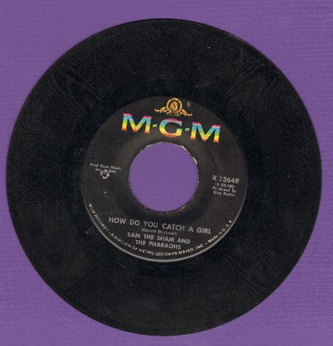 Sam The Sham & The Pharaohs - How Do You Catch A Girl/The Love You Left Behind (bb) - VG7/ - 45 rpm Records