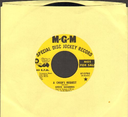 Sanders, Steve - A Child's Prayer/Lazarus (DJ advance pressing) - EX8/ - 45 rpm Records