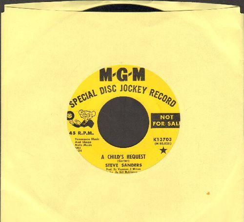 Sanders, Steve - A Child's Prayer/Lazarus (DJ advance pressing) - EX8/ - 45 rpm Records