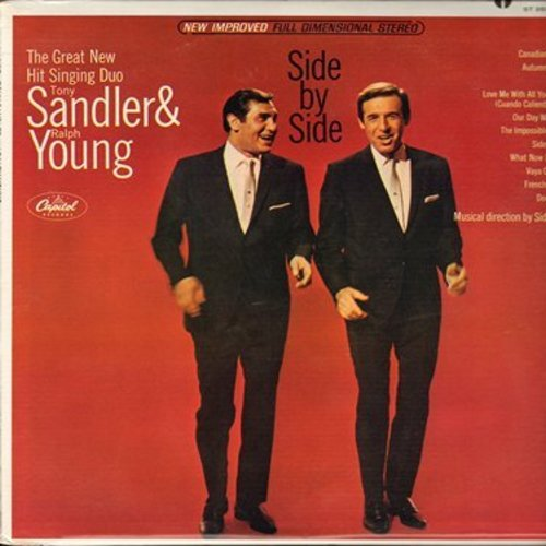 Sandler, Tony & Ralph Young - Side By Side: Chicago, The Impossible Dream, Dominique, Our Day Will Come, Love Me With All Your Heart (Vinyl STEREO LP record) - EX8/EX8 - LP Records
