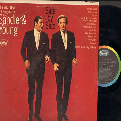 Sandler, Tony & Ralph Young - Side By Side: Chicago, The Impossible Dream, Dominique, Our Day Will Come, Love Me With All Your Heart (Vinyl MONO LP record) - EX8/VG7 - LP Records