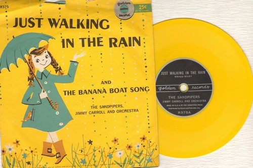Sandpipers - Just Walking In The Rain/The Banana Boat Song (5 inch 78 rpm Little Golden Record with picture sleeve) - EX8/VG6 - 78 rpm
