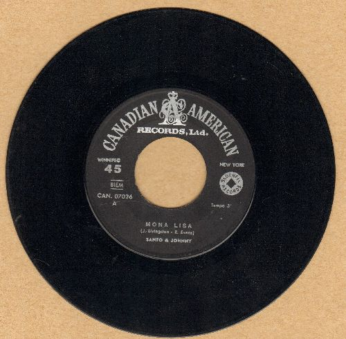 Santo & Johnny - Mona Lisa/Lisa (All Alone) (Canadian Pressing) - VG7/ - 45 rpm Records