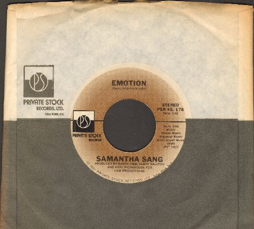 Sang, Samantha - Emotion/When Love Is Gone (with Private Stock company sleeve) - M10/ - 45 rpm Records