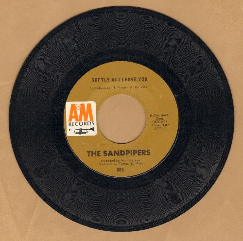 Sandpipers - Softly As I Leave You/Cuando Sali A Cuba - EX8/ - 45 rpm Records