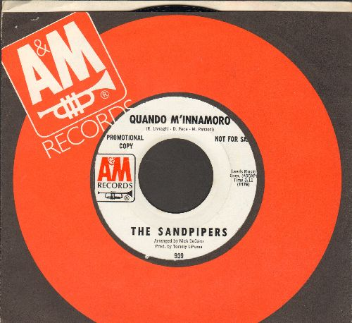 Sandpipers - Quando M'innamorado (double-A-sided DJ advance pressing with A&M company sleeve) - NM9/ - 45 rpm Records