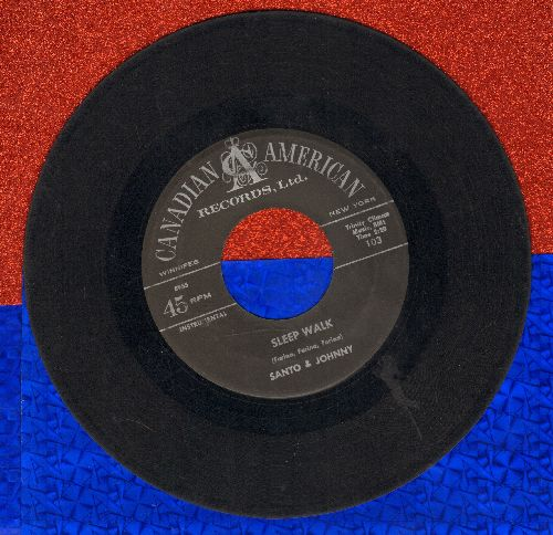 Santo & Johnny - Sleep Walk/All Night Diner - VG7/ - 45 rpm Records