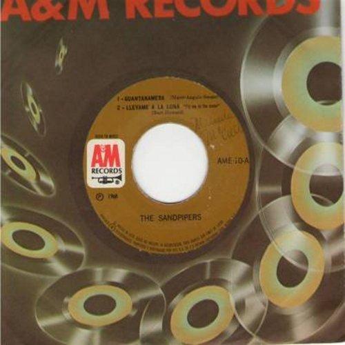Sandpipers - Guntanamera/Llevame A La Luna/Cuando Sali De Cuba/Ojos Espanoles (Vinyl EP record, Mexican Pressing with A&M company sleeve) - NM9/ - 45 rpm Records