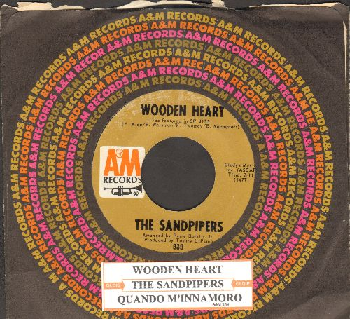 Sandpipers - Quando M'innamorado/Wooden Heart (with juke box label and A&M company sleeve) - NM9/ - 45 rpm Records
