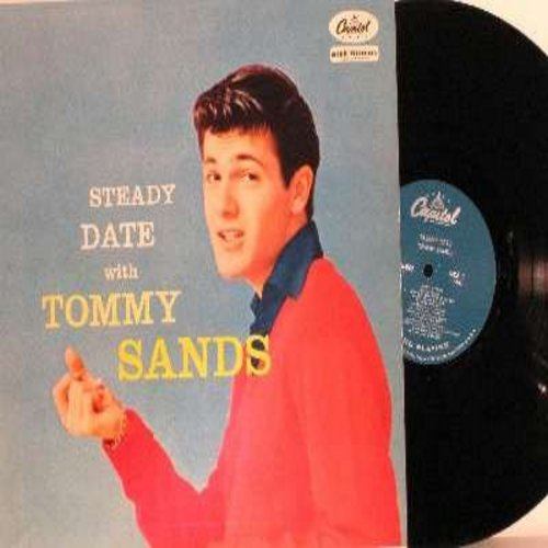 Sands, Tommy - Steady Date With Tommy Sands: Goin' Steady, Too Young, Ring My Phone (Vinyl MONO LP record, turquoise label first issue, NICE condition!) - EX8/VG7 - LP Records