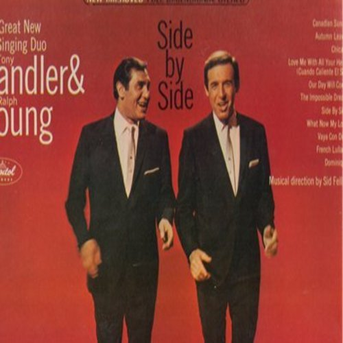 Sadler, Tony & Ralph Young - Side By Side: Chicago, Autumn Leaves, Our Day Will Come, Dominique, The Impossible Dream (Vinyl STEREO LP record) - EX8/EX8 - LP Records
