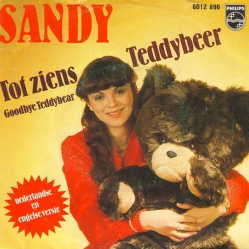 Sandy - Tot ziens Teddybeer/Goodbye Teddybear (Dutch Pressing with picture sleeve, sung in Dutch and English) - NM9/EX8 - 45 rpm Records