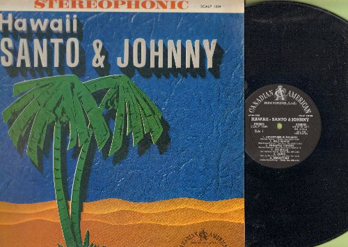 Santo & Johnny - Hawaii: Adventures In Paradise, Blue Hawaii, Pineapple Princess, Sweet Lelani, Hawaiian War Chant (vinyl STEREO LP record) - EX8/EX8 - LP Records