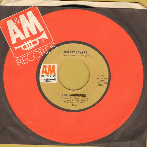 Sandpipers - Guantamera/What Make You Dream, Pretty Girl (with A&M company sleeve) - EX8/ - 45 rpm Records