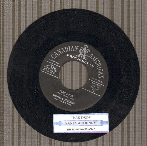 Santo & Johnny - Tear Drop/The Long Walk Home (with juke box label) - EX8/ - 45 rpm Records