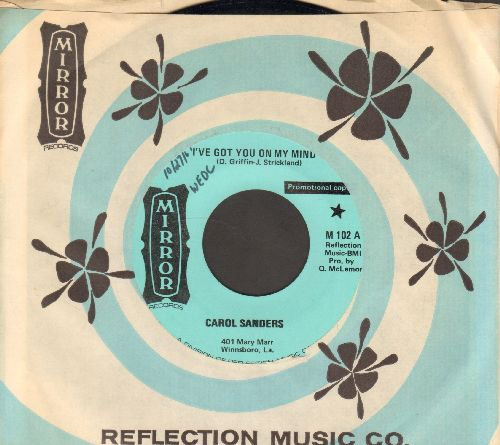 Sanders, Carol - I've Got You On My Mind/How Much Time Will It Take (DJ advance pressing with Mirror company sleeve) - NM9/ - 45 rpm Records