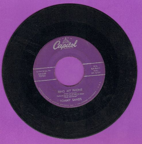 Sands, Tommy - Ring My Phone/Goin' Steady (wol/sol) - VG6/ - 45 rpm Records