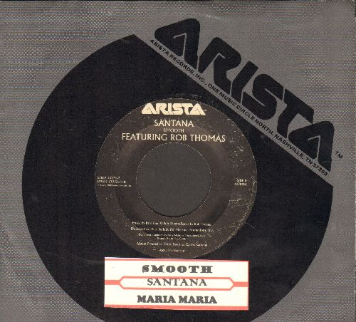 Santana - Maria Maria/Smooth (RARE double-hit 45 rpm record with juke box label and Arista company sleeve) - EX8/ - 45 rpm Records