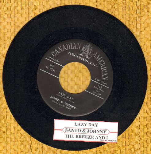 Santo & Johnny - Lazy Day/The Breeze And I (with juke box label) - NM9/ - 45 rpm Records