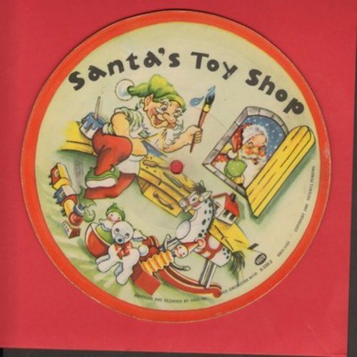 Voco Orchestra - Santa's Toy Shop/The First Noel (RARE 7 inch 1949 picture disc) - EX8/ - 45 rpm Records