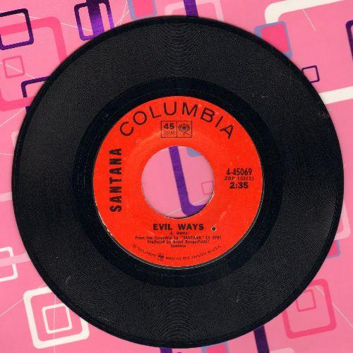 Santana - Evil Ways (double-A-sided MONO/Stereo DJ advance pressing with Columbia company sleeve)(bb) - NM9/ - 45 rpm Records