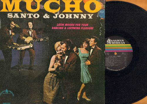Santo & Johnny - Mucho - Latin Moods For Your Dancing & Listening Pleasure: Bermuda, Miama Beach Rumba, Brasilia, Amazon Ritual (Vinyl MONO LP record) - EX8/VG7 - LP Records