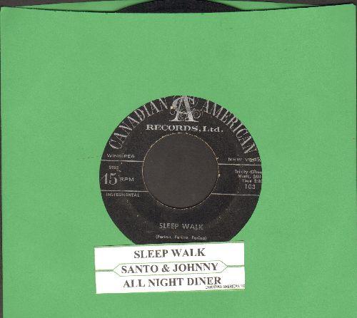 Santo & Johnny - Sleep Walk/All Night Diner (with juke box label) - VG7/ - 45 rpm Records