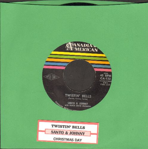 Santo & Johnny - Twistin' Bells/Bullseye (with juke box label) - NM9/ - 45 rpm Records