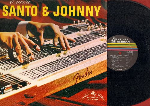 Santo & Johnny - Encore: Venus, Lazy Day, Teardrop, Deep Purple, You Belong To Me, Old Man River (Vinyl MONO LP record) - EX8/EX8 - LP Records