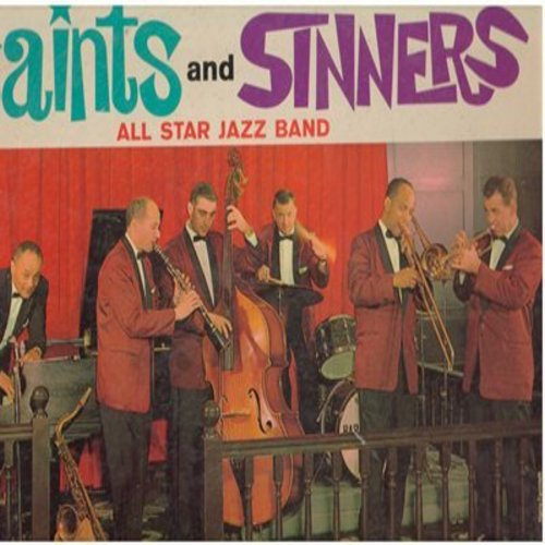 Saints & Sinners All Star Jazz Band - Catch Fire at the Sheraton-Jefferson in St. Louis: Satin Doll, A La Mode, Teach Me Tonight, Misty, Tenderly (Vinyl STEREO LP record) - NM9/VG7 - LP Records