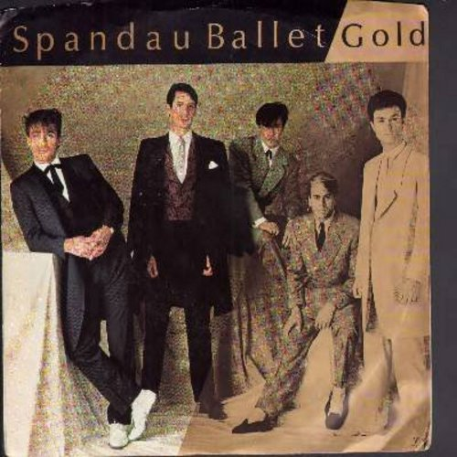 Spandau Ballet - Gold (double-A-sided DJ advance copy with picture sleeve) - NM9/EX8 - 45 rpm Records