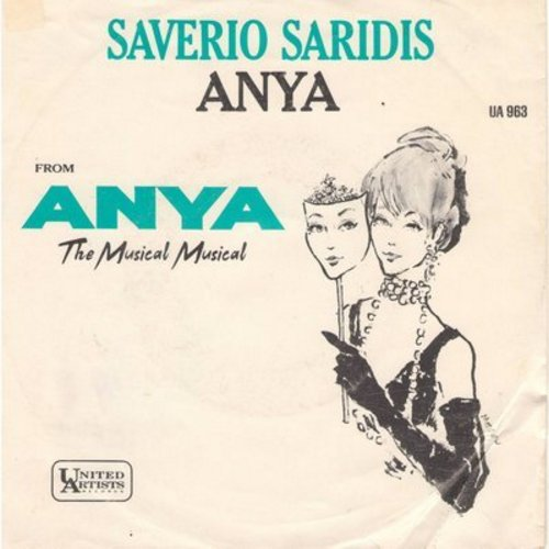 Saridis, Saverio - Anya/Here Tonight, Where Tomorrow? (DJ advance pressing with picture sleeve) - NM9/EX8 - 45 rpm Records