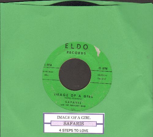 Safaris - Image Of A Girl/4 Steps To Love (with juke box label) - VG7/ - 45 rpm Records